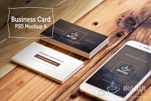 "Business Card Mockups ""A"""