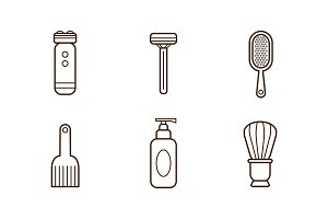 Vector set of linear barbershop