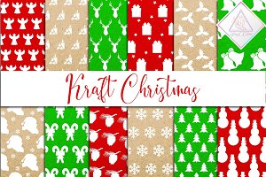 Christmas Kraft Digital Paper