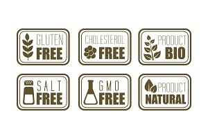 Vector set of 6 allergen free