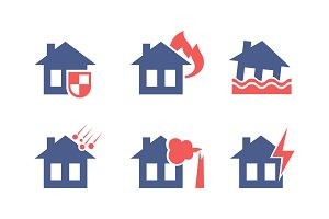 Set of icons related to house