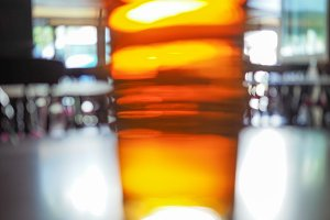 Beer pint blur