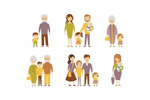 Flat vector set of families