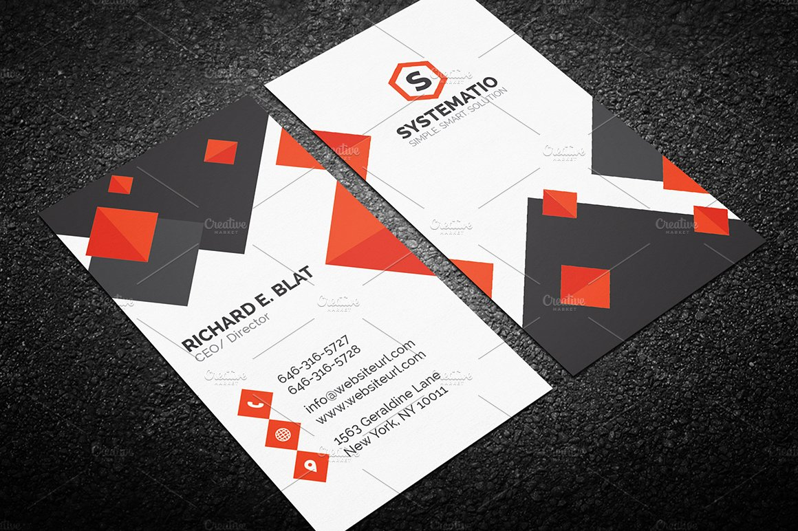 Modern Abstract Business Card ~ Business Card Templates ~ Creative ...
