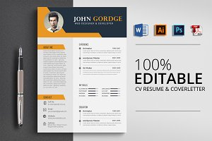 Word Job CV Resume Template