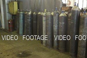 Acetylene and gas steel storage