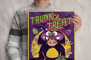 Cute Halloween Themed Poster