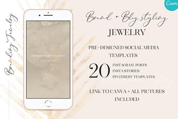 Social media- Brand styling Jewelry
