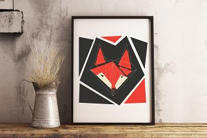 Fox. Geometric design.
