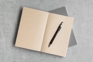 Open Kraft Paper Notebook