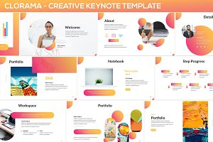 Clorama - Creative Keynote Template