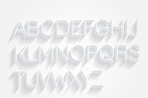 3d typography vector