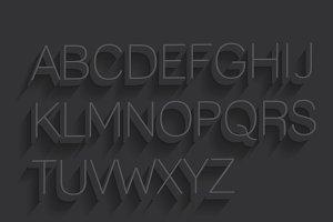 3d typography vector