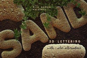 Sand - 3D Lettering