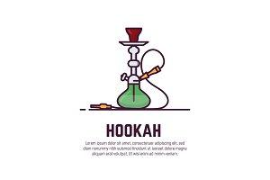 Hookah line style banner