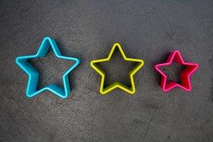 Cookie cutter star shape