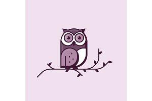 Owl line style illustration