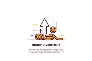 Money and investment banner