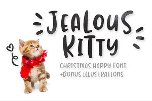 Jealous Kitty - Happy Christmas Font