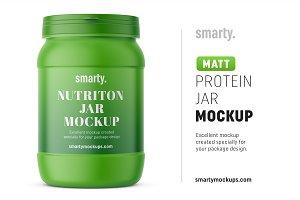 Matt protein jar mockup