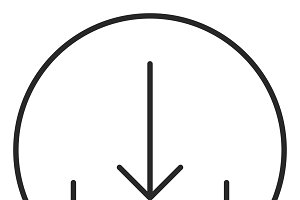 Download stroke icon, logo