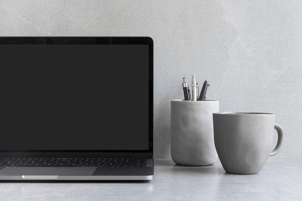 Blank Laptop Screen