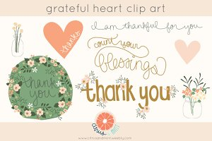 Grateful Heart Clip Art