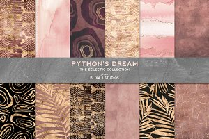 Python's Dream in Rose & Gold