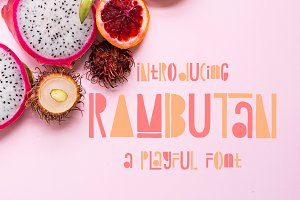 50% OFF | Rambutan Playful Font