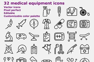 Outline Medical Equipment Icons