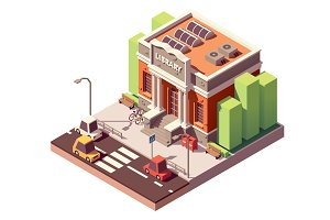 Vector isometric library building