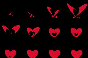 Sprite Sheets Heart. Ready for games