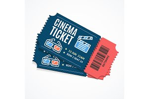 Cinema Movie Tickets Set