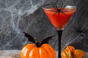 Bloody Mary cocktail, pumpkin