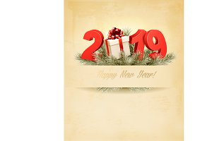 New Year Holiday background. Vector