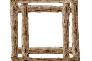 Wooden Frame with Wooden Edges
