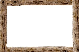 Landscape Blank Frame with Wooden Ed