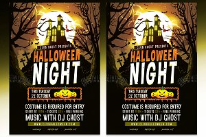 Halloween Night Flyer - PSD Template