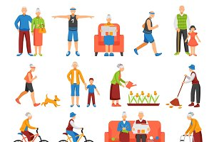 Active old people set