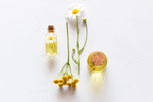 natural cosmetics from field flowers