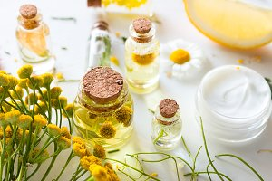 cosmetics with herbal ingredients