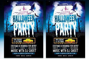 Halloween Party Flyer - PSD Template