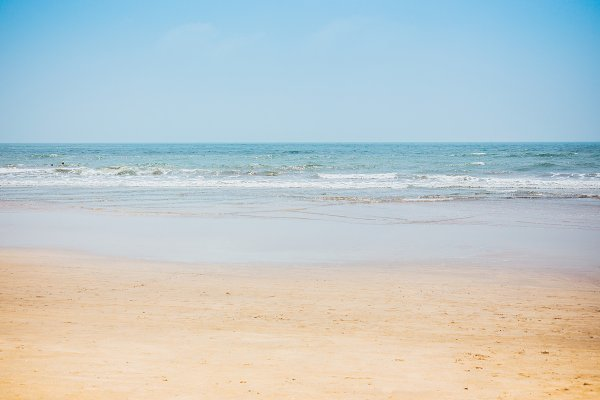 View from a tropical sandy beach on…