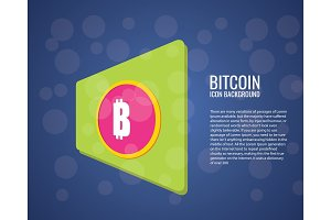Bitcoin logo. Cryptography currency