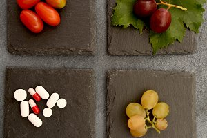 Pills or fruits and vegetables