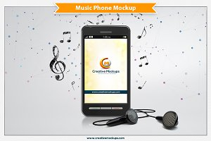 Cell Phone Music Mockup