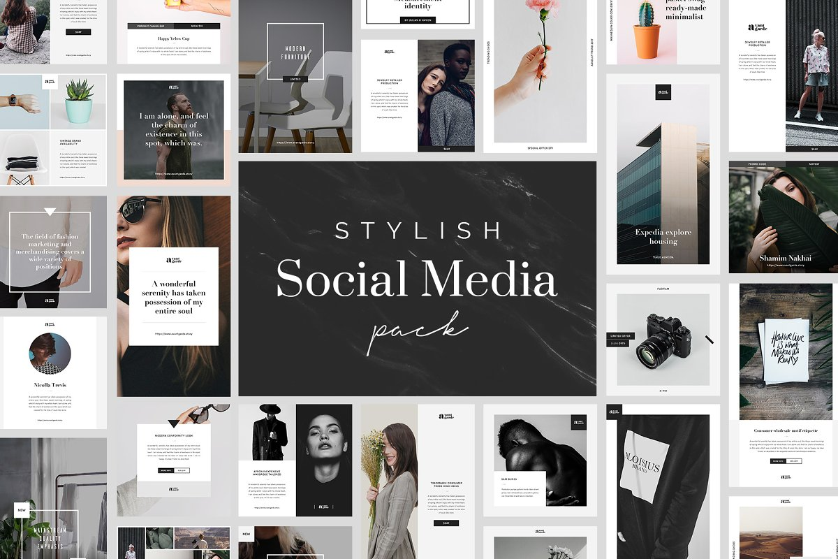 Stylish Social Media Pack Free Download