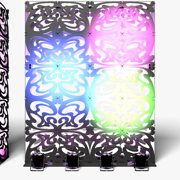 Stage Decor 09 Modular Wall Column in Photoshop Shapes - product preview 3