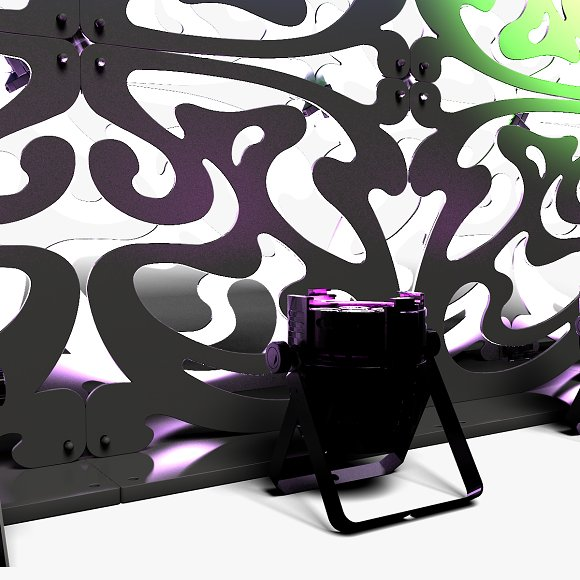 Stage Decor 09 Modular Wall Column in Photoshop Shapes - product preview 8