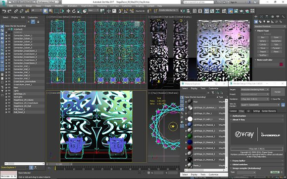 Stage Decor 09 Modular Wall Column in Photoshop Shapes - product preview 11